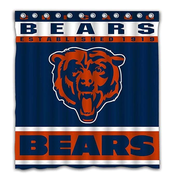 nfl football sport flag chicago bears shower curtain gojeek