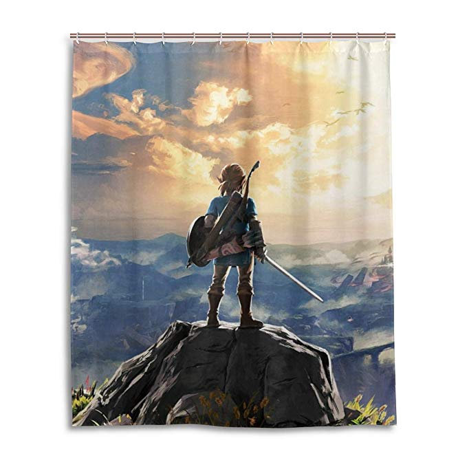 video game the legend of zelda poster shower curtain
