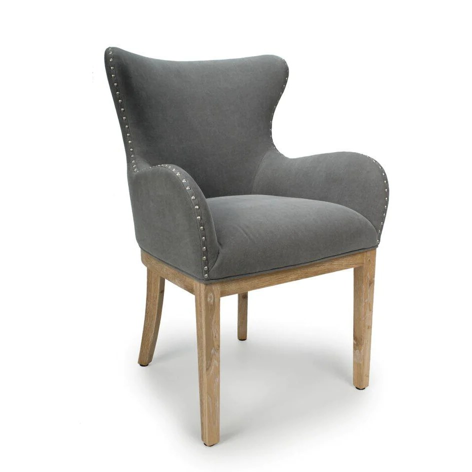Curved Back Chair Low Curved Wing Back Chair