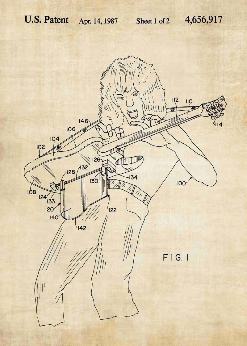 van halen guitar support