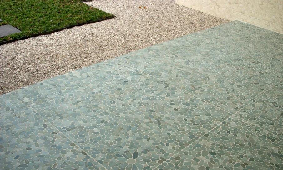 sliced pebble tile pebble tile mosaics