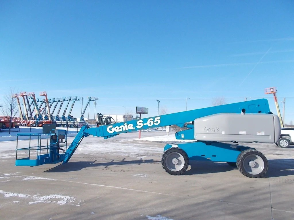 hight resolution of 2006 genie s65 telescopic boom lift aerial lift with jib arm 65 reach diesel 4wd