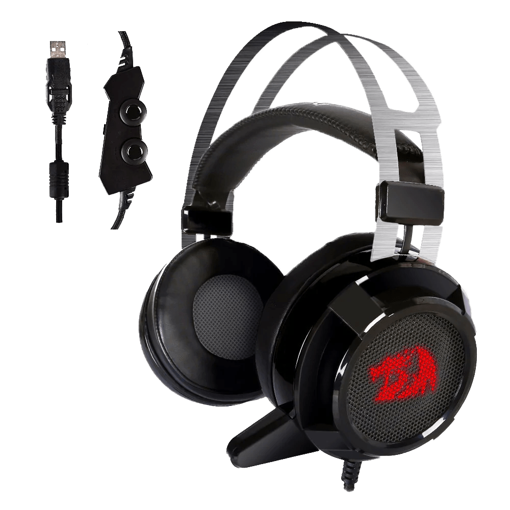 small resolution of  redragon h301 siren2 7 1 channel surround stereo gaming headset over ear headphones with mic individual vibration