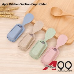 Kitchen Spoon Moen Brantford Faucet 4pcs A99 Suction Cup Cutlery Holder Shelf Rack Organizer