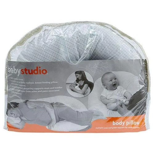 baby studio pregnancy support pillow grey chevron