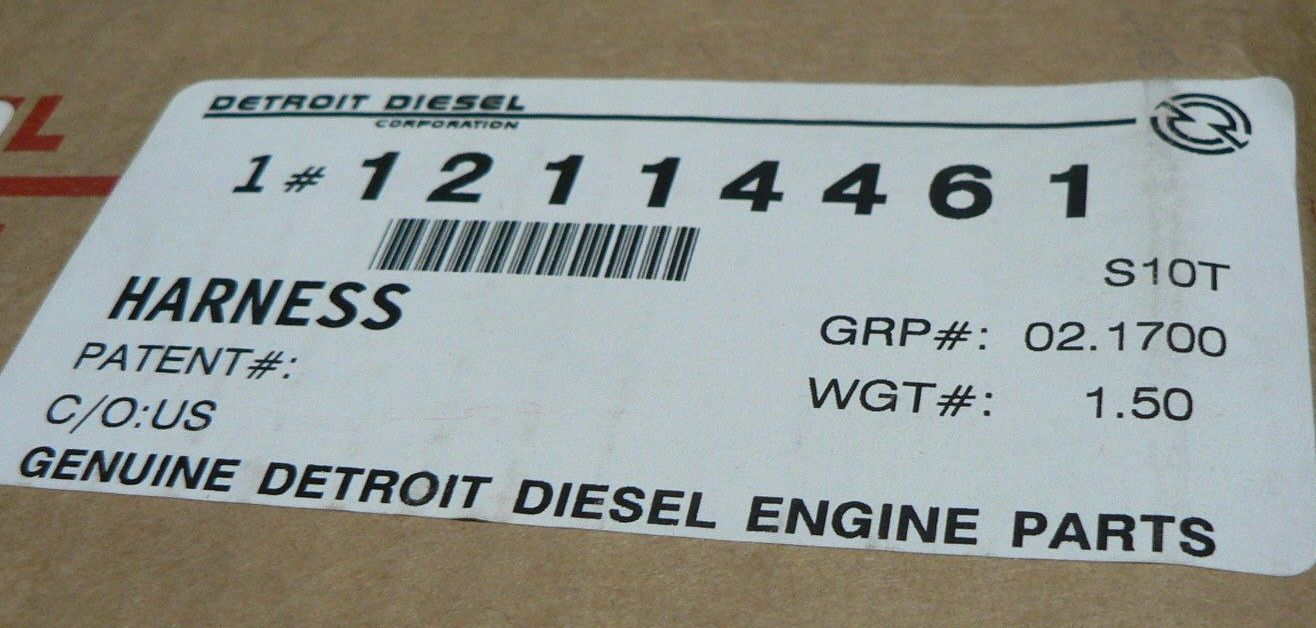 genuine detroit diesel wiring harness dde 23532060 detroit 60 series 14l [ 1316 x 628 Pixel ]