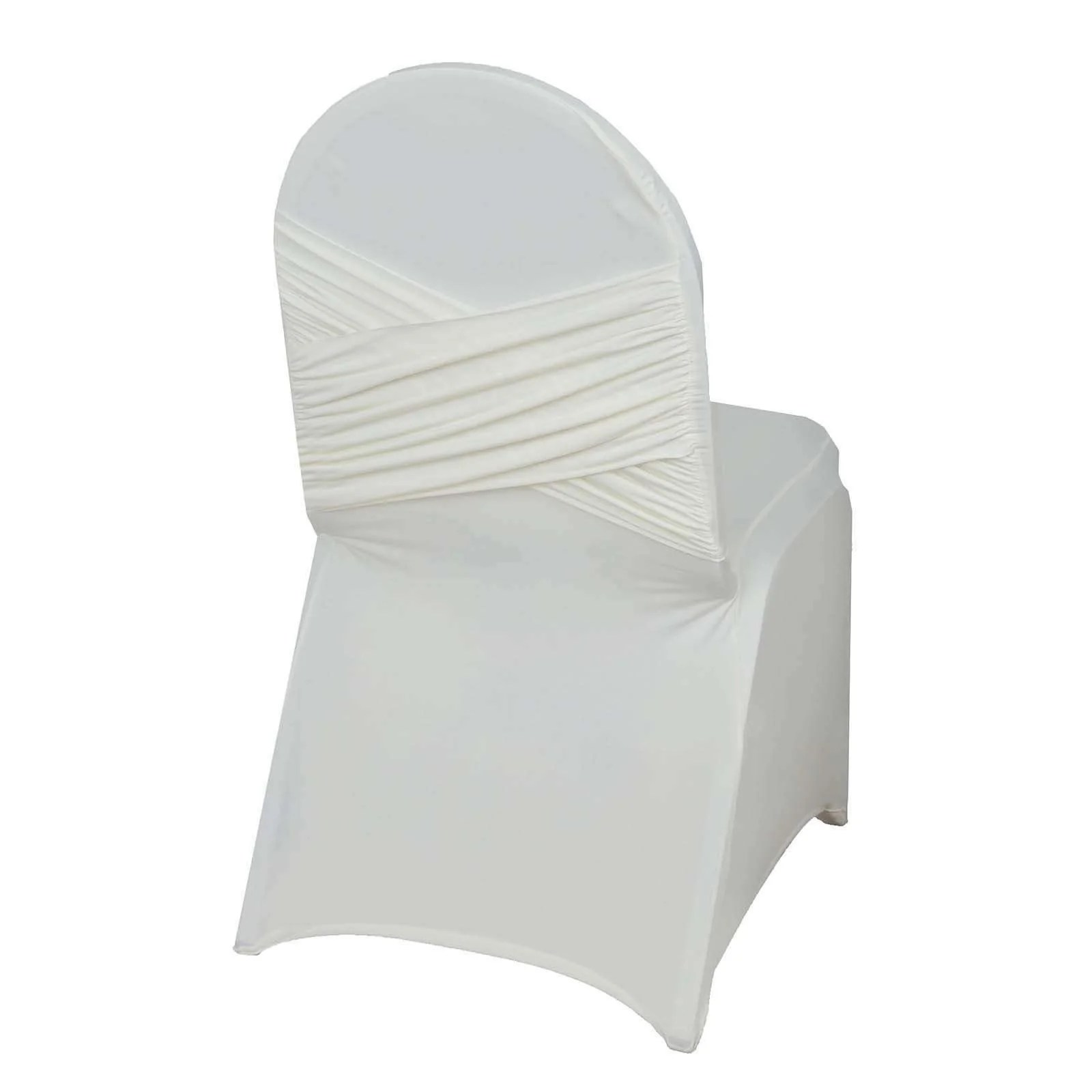 ivory chair covers spandex and a half with ottoman premium madrid banquet for wedding