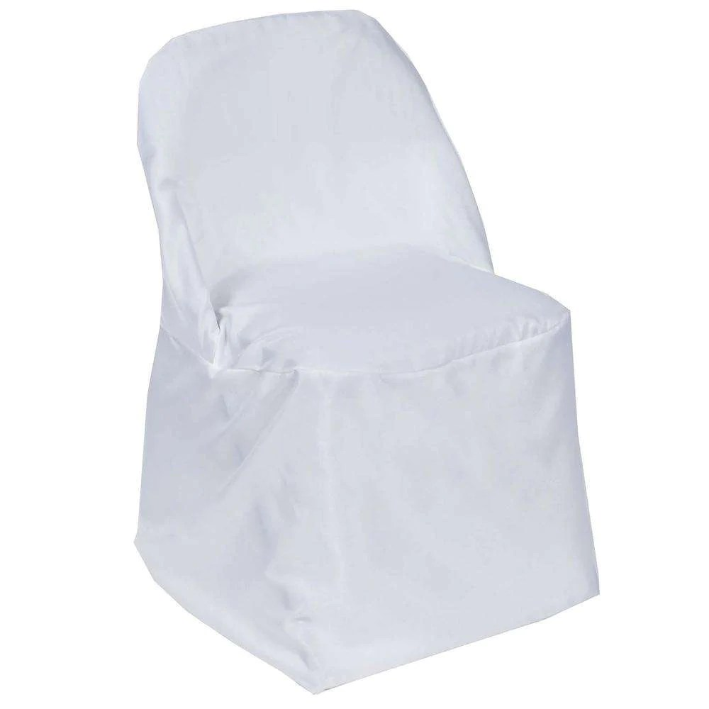 Wholesale White Polyester Folding Chair Covers Party