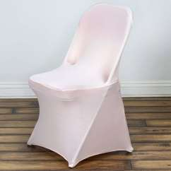 Folding Chair Covers For Wedding Velvet Dining Chairs Canada Wholesale Blush Spandex Stretch Cover Party