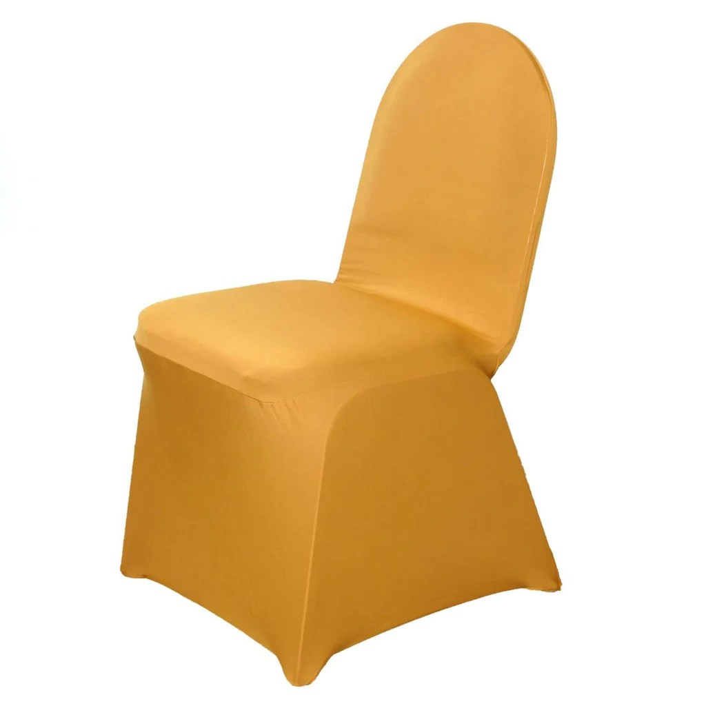 chair covers for event home depot rail wholesale gold spandex stretch banquet cover wedding