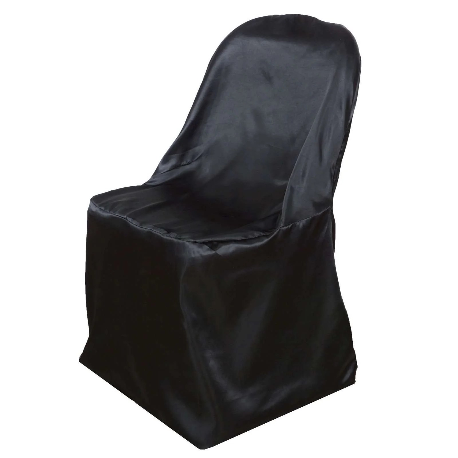 black lifetime chair covers living room chairs walmart wholesale satin folding party wedding event