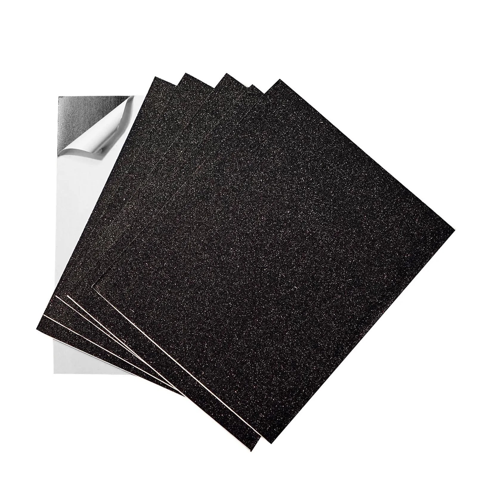 10 Pack 12 X10 Self Adhesive Glitter Diy Craft Foam Sheets Black Chaircoverfactory