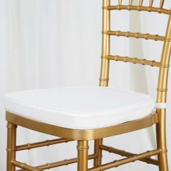 Wholesale Chair Cushions Drafting Table Desk Chairs 2 Thick Ivory Chiavari Cushion For Beechwood Party Wood Resin Event Decoration