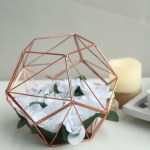 7 Rose Gold Metal Geometric Candle Holder Centerpiece Diy Terrarium Chaircoverfactory
