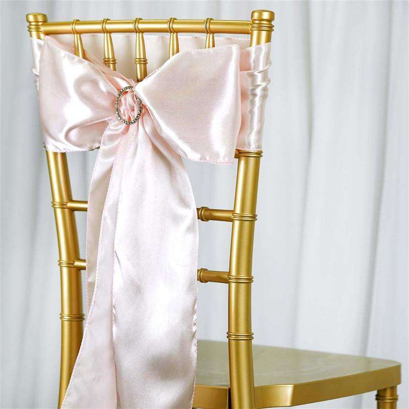 rose gold satin chair sashes childrens potty chairs sash 5pcs blush chaircoverfactory