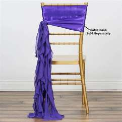 Purple Chair Sashes For Weddings Knoll Life Chiffon Curly Willow Catering Wedding Party