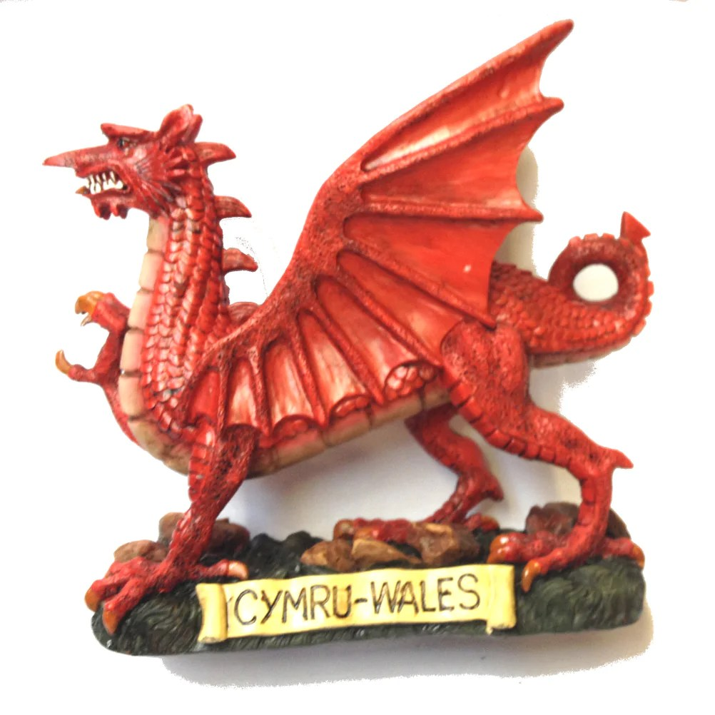 Traditional Welsh Dragon 12in Resin Figure Wg257
