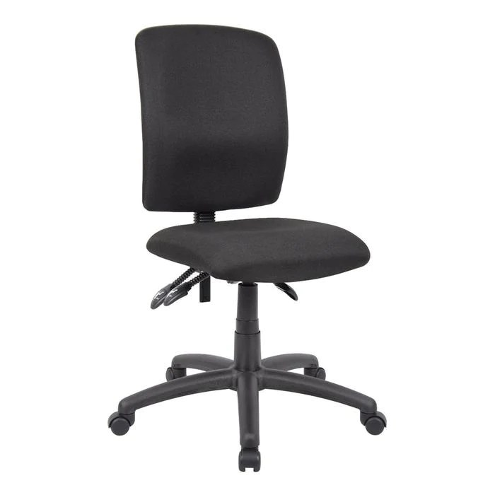 ergonomic chair without arms office armrest multi function middle back black fabric