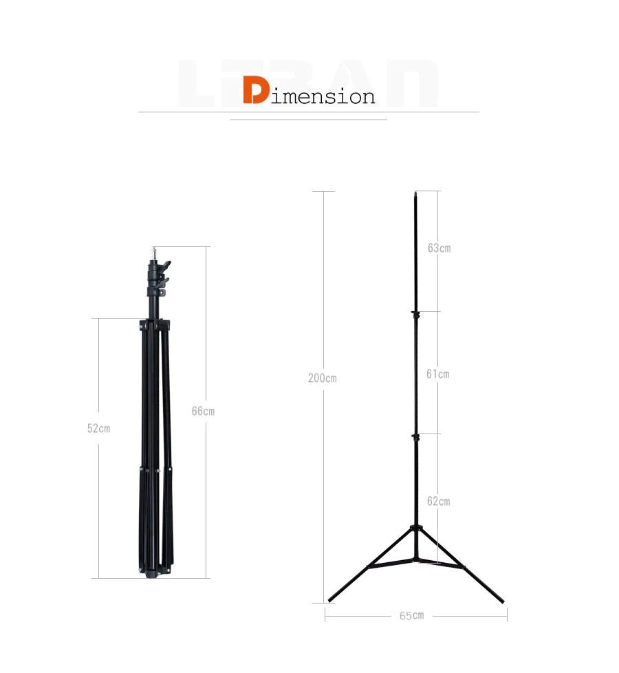 medium resolution of  godox 302 2m light stand with 1 4 screw head tripod for studio photo vedio