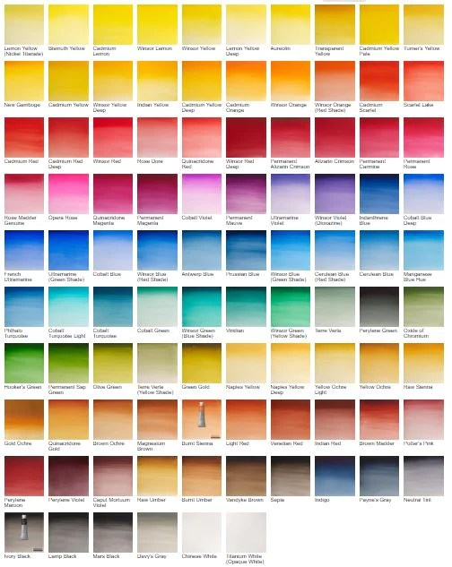 Winsor  newton professional artists watercolour ml tubes buy or wow art supplies also rh wowartsupplies