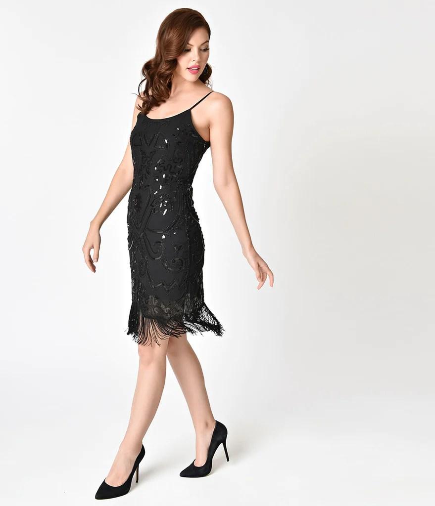 Black Sequin Short Cocktail Dresses