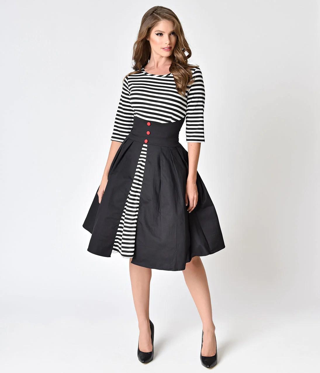 1950s Style Black Dress
