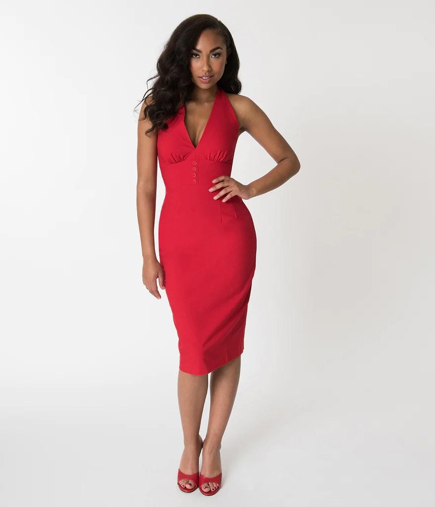 Red Halter Top Dress