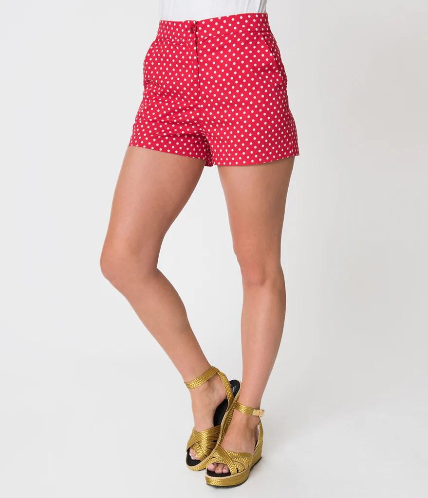Pin Shorts - High-waisted & Sailor Unique Vintage