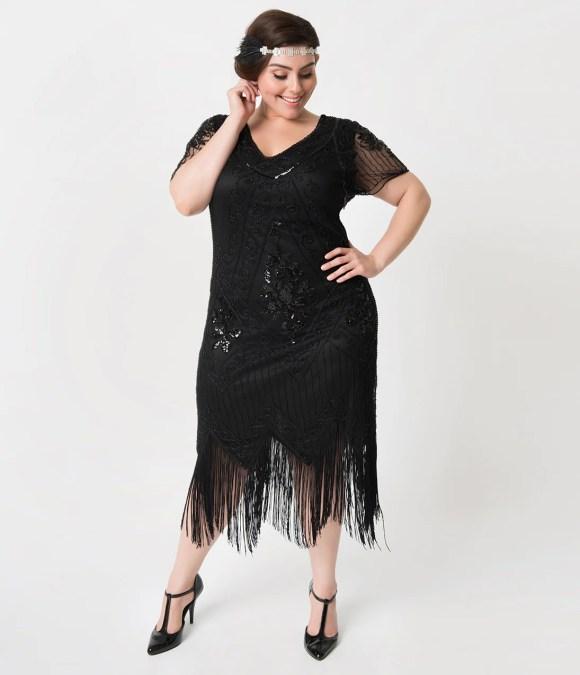 1920s Plus Size Flapper Dresses, Gatsby Dresses, Flapper ...