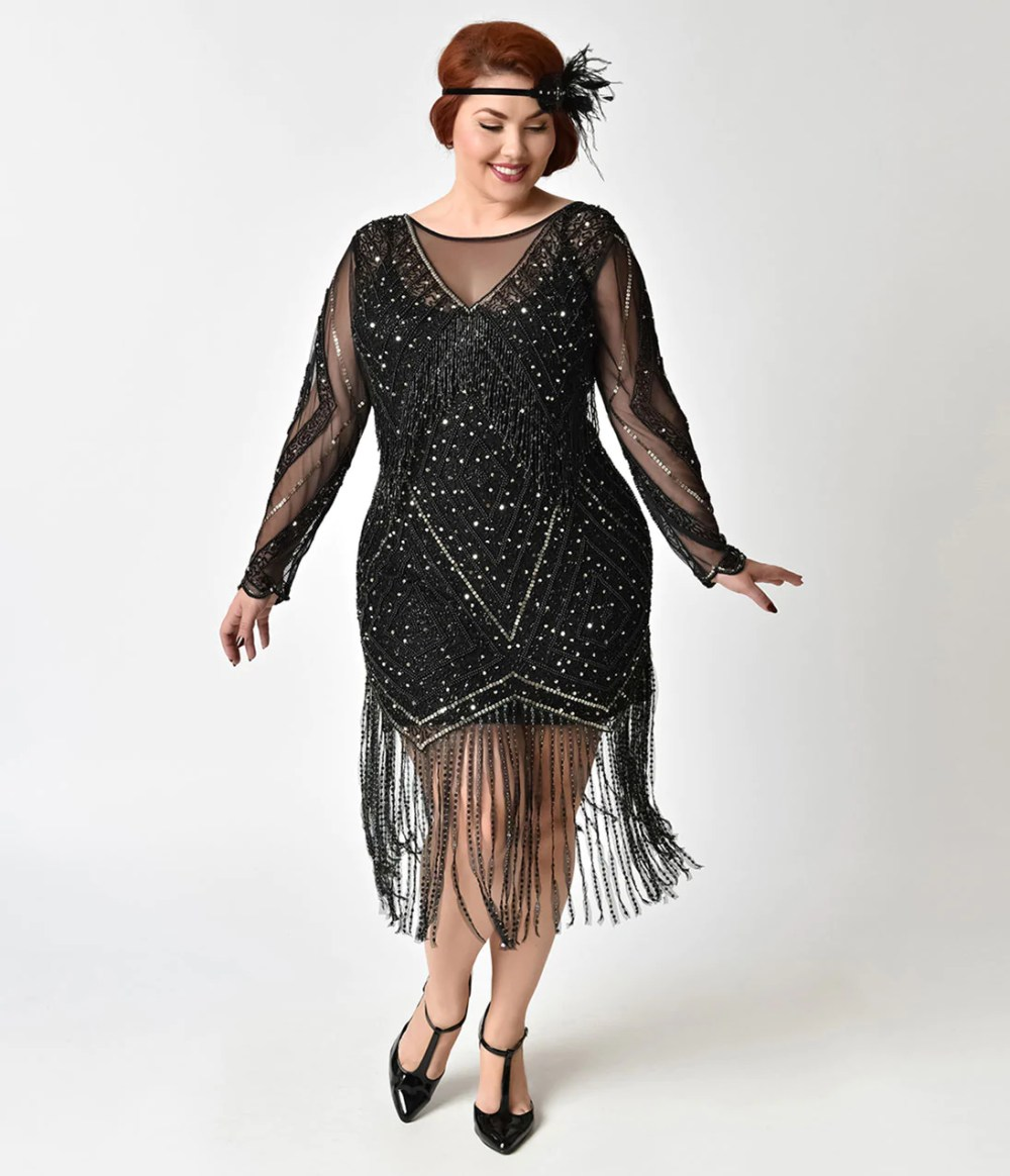 Resultado de imagen de plus size sheer dress embellished