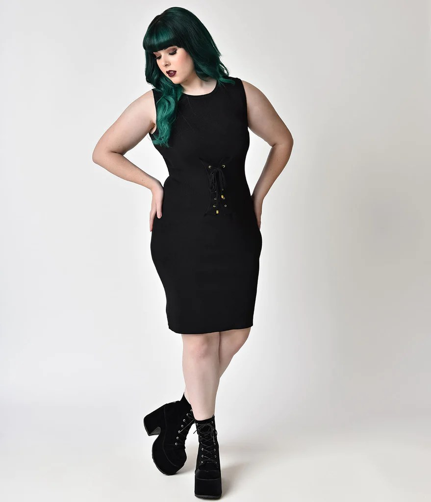 Plus Size Black Corset Dress