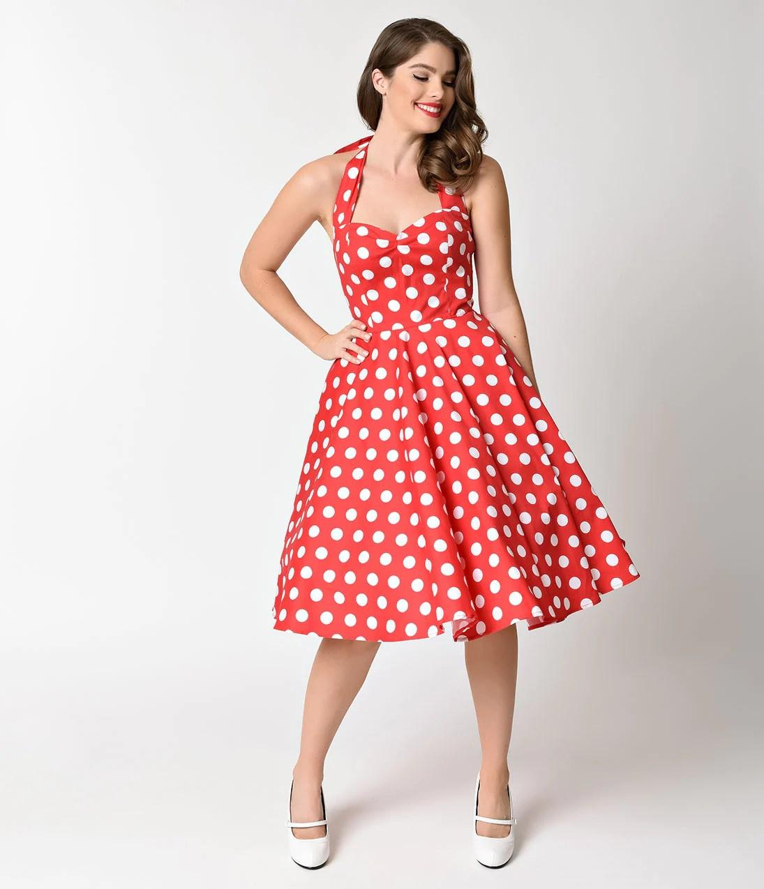 Polka Dot Halter Dress