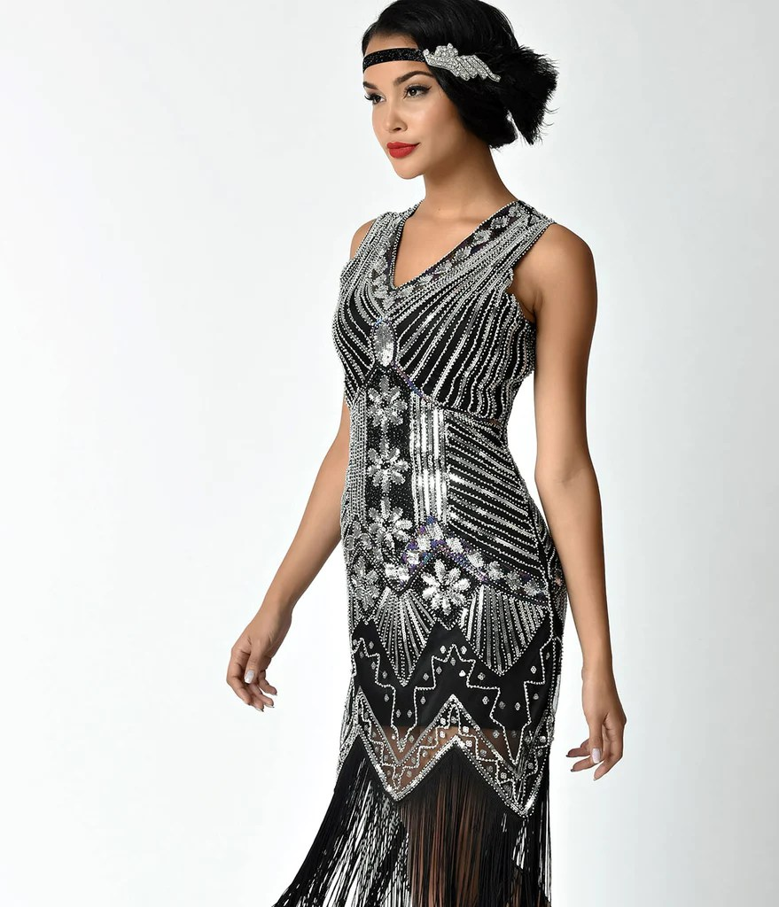 Veronique Fringe Flapper Dress
