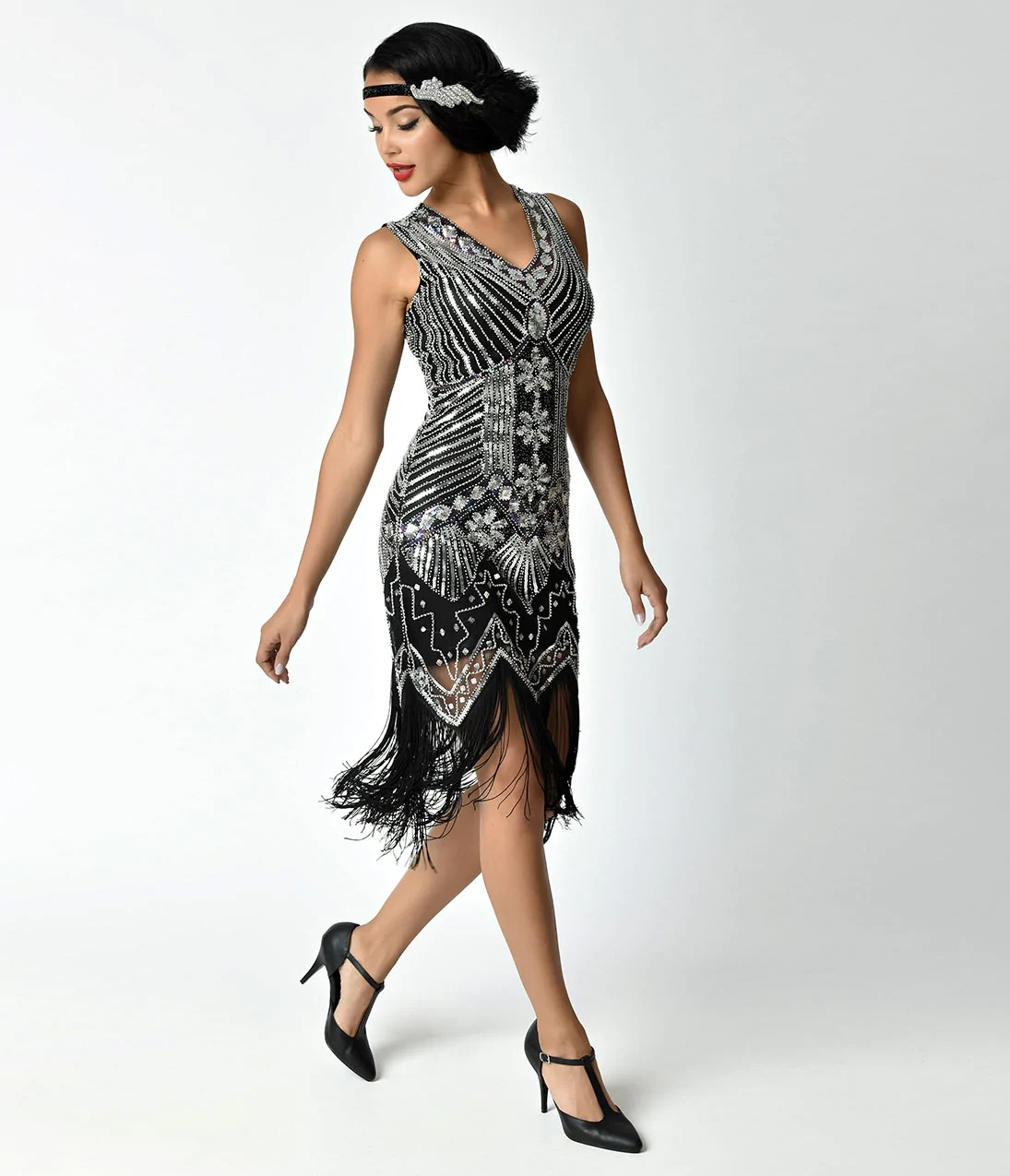 Veronique Fringe Flapper Dress