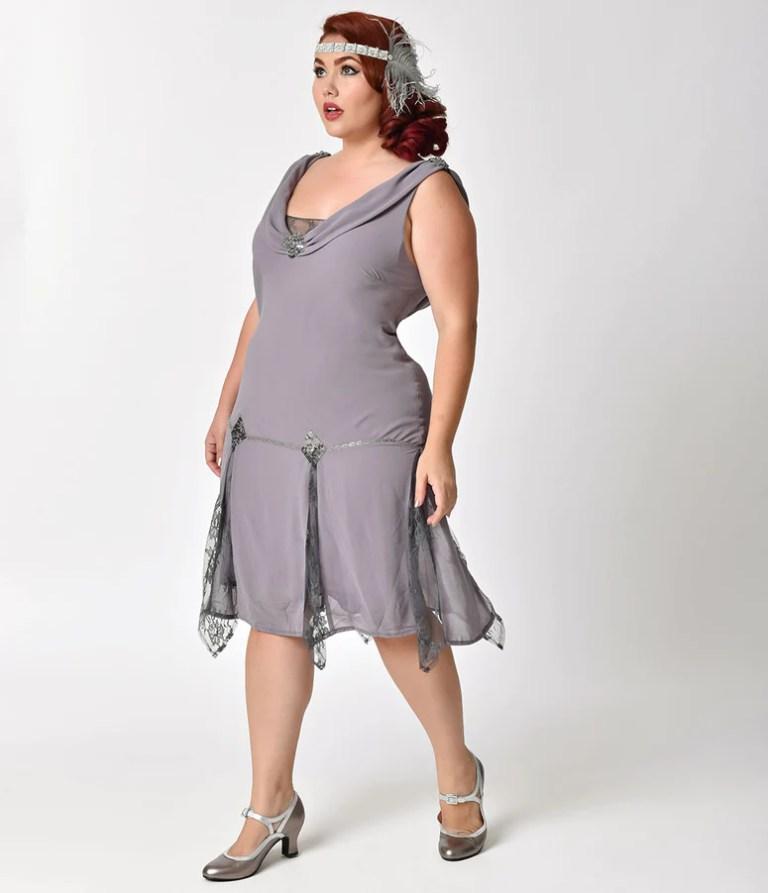 Plus Size Flapper Dresses and Costumes – Unique Vintage