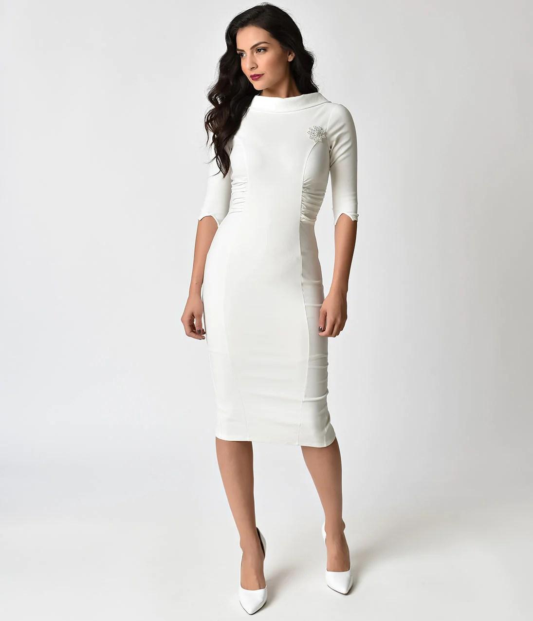 1960s Long Sleeve Vintage Wedding Dresses