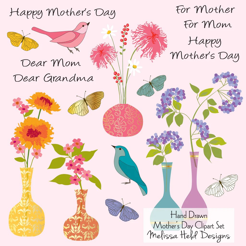 happy mother day clipart [ 1024 x 1024 Pixel ]