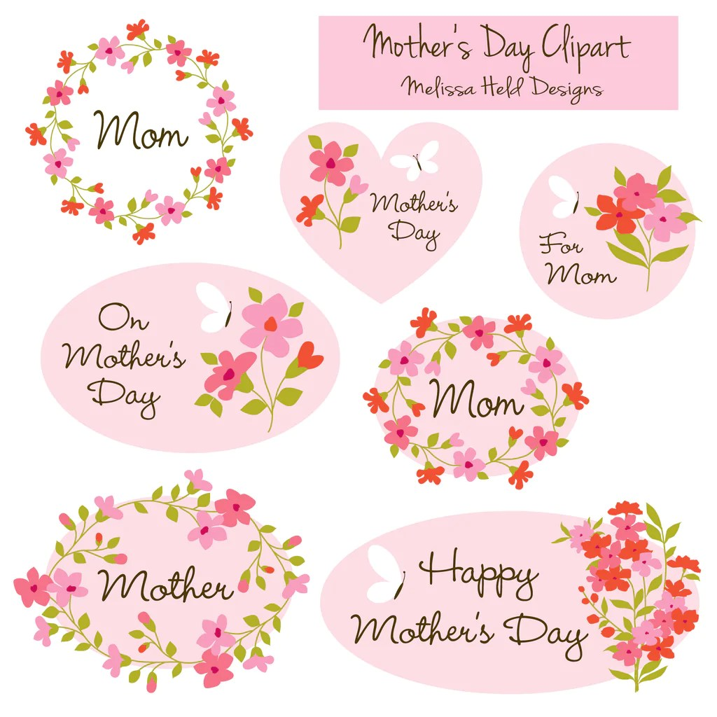 hight resolution of happy mother day clipart