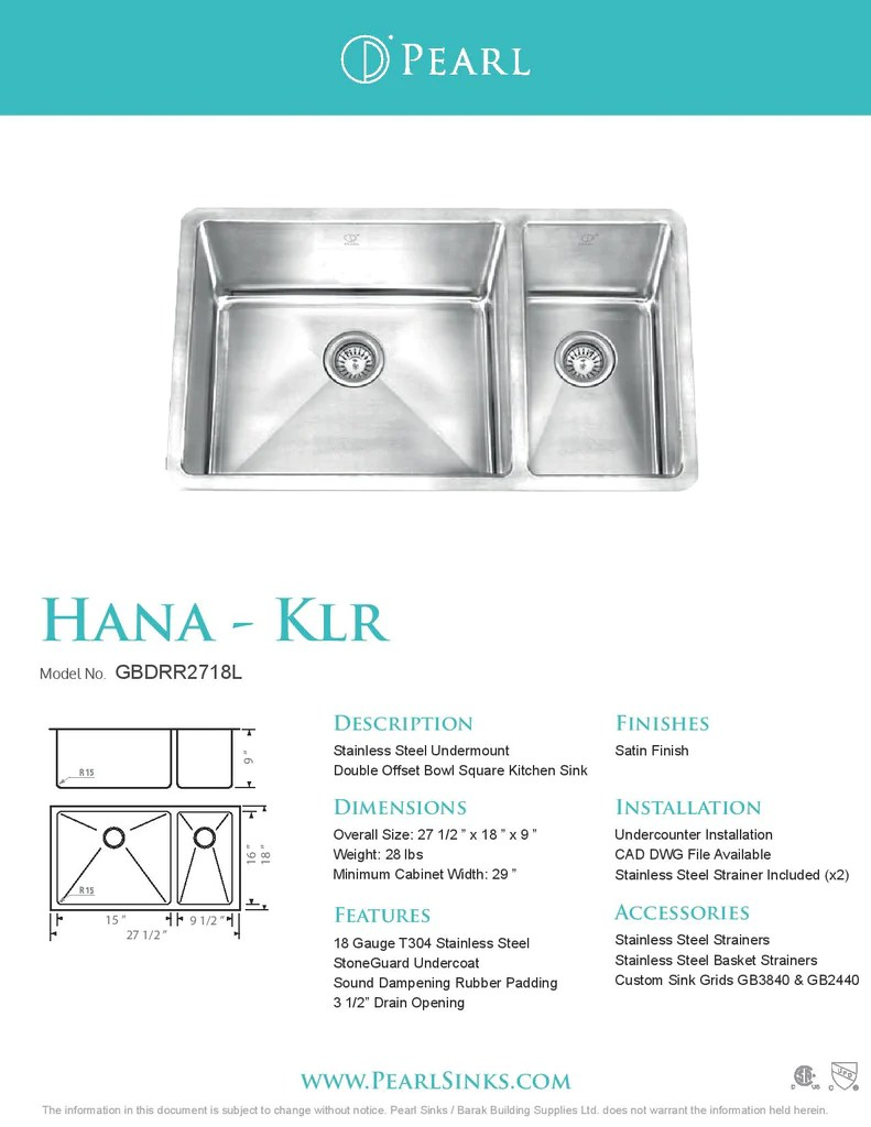 27 kitchen sink cabinet knobs and pulls hana klr offset square radius corners 1 2 x 18