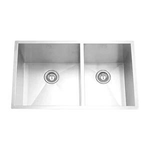 square kitchen sink and bathroom remodel hana sl offset 32 x 19 10 calgary