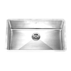 Square Kitchen Sink Small Pantry Ideas Hana Pr Single Bowl Radius Corners 32 X