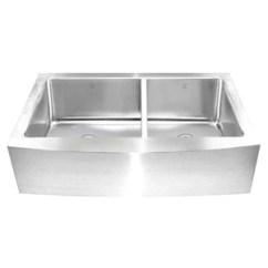 Square Kitchen Sink Decorative Accessories Keshi Clr Offset 16 Gauge Apron Front