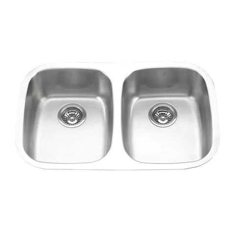 mabe exi double bowl under mount kitchen sink 29 1 4 x 18 1 2 x 9