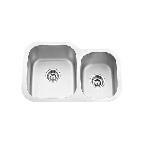 27 kitchen sink copper faucets kohler mabe clx off set double bowl under mount 1 8