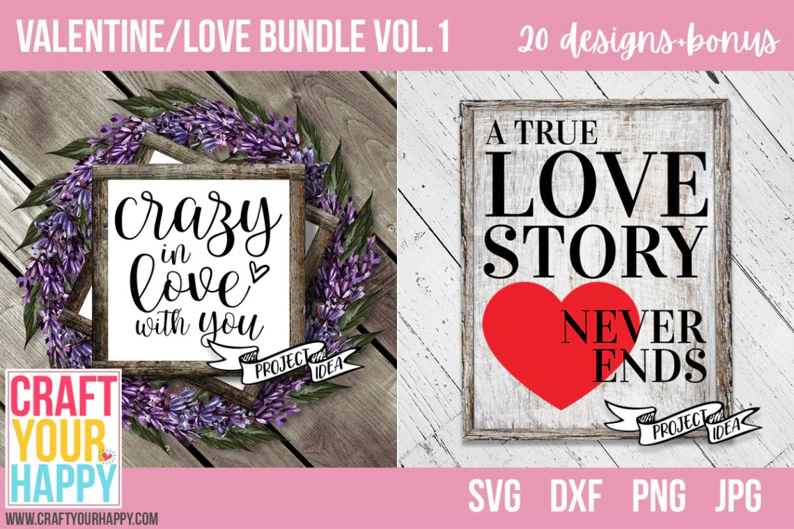 Download SVG Cut File Bundles - Valentine/Love Bundle Vol. 1 ...