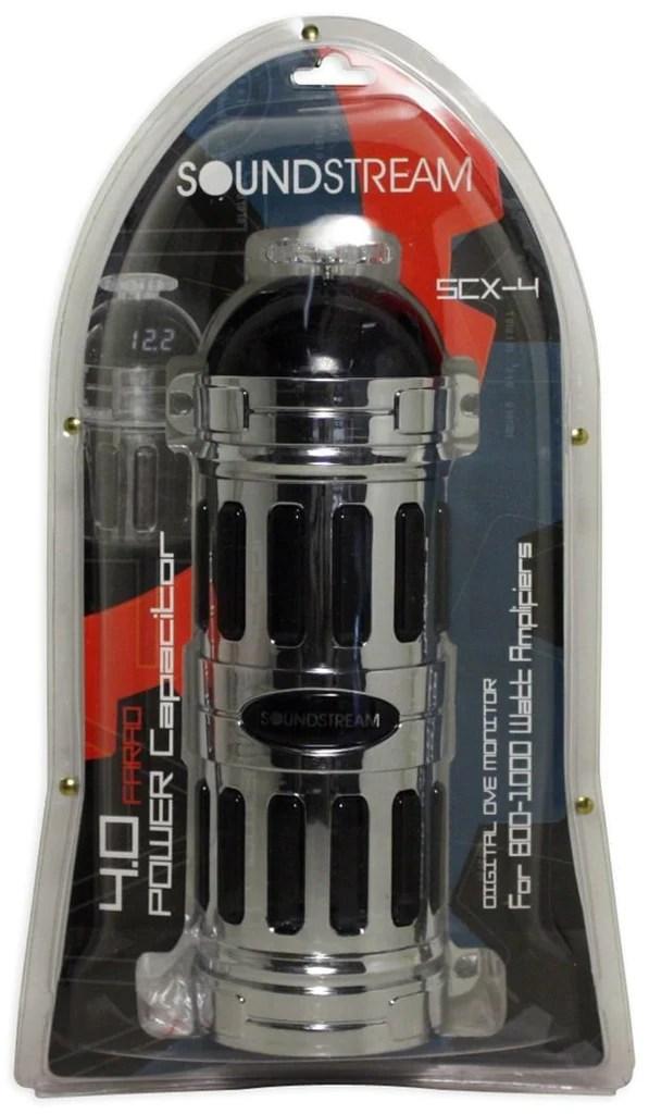 Soundstream Scx 4 4 Farad Blue Led Voltage Display Capacitor