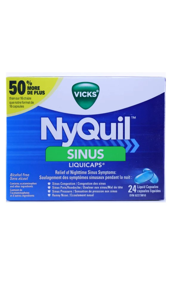 nyquil sinus 24 capsules