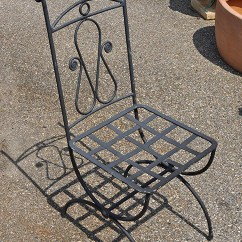 Wrought Iron Chair Dining Covers Big W Australia Italian Hand Gardenaccents