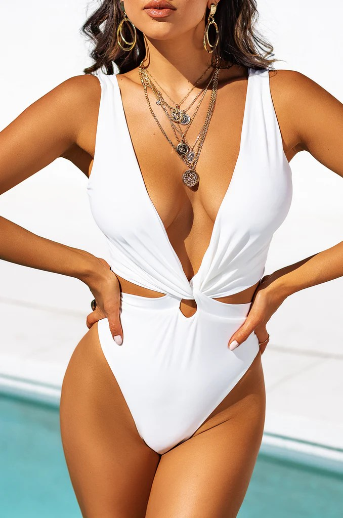 Slaycation Swimsuit - White 21