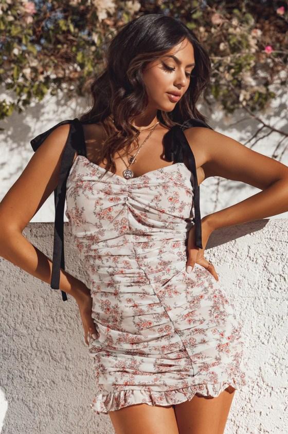 Spanish Sunsets Dress - Floral 14
